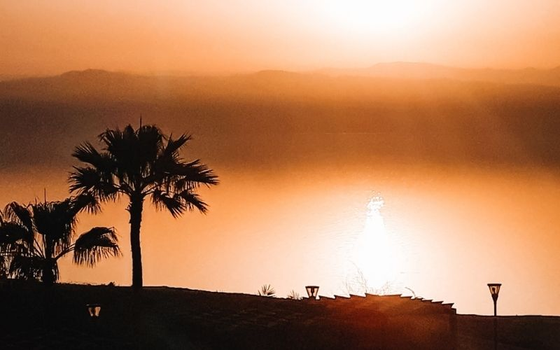 The Dead Sea at sunset