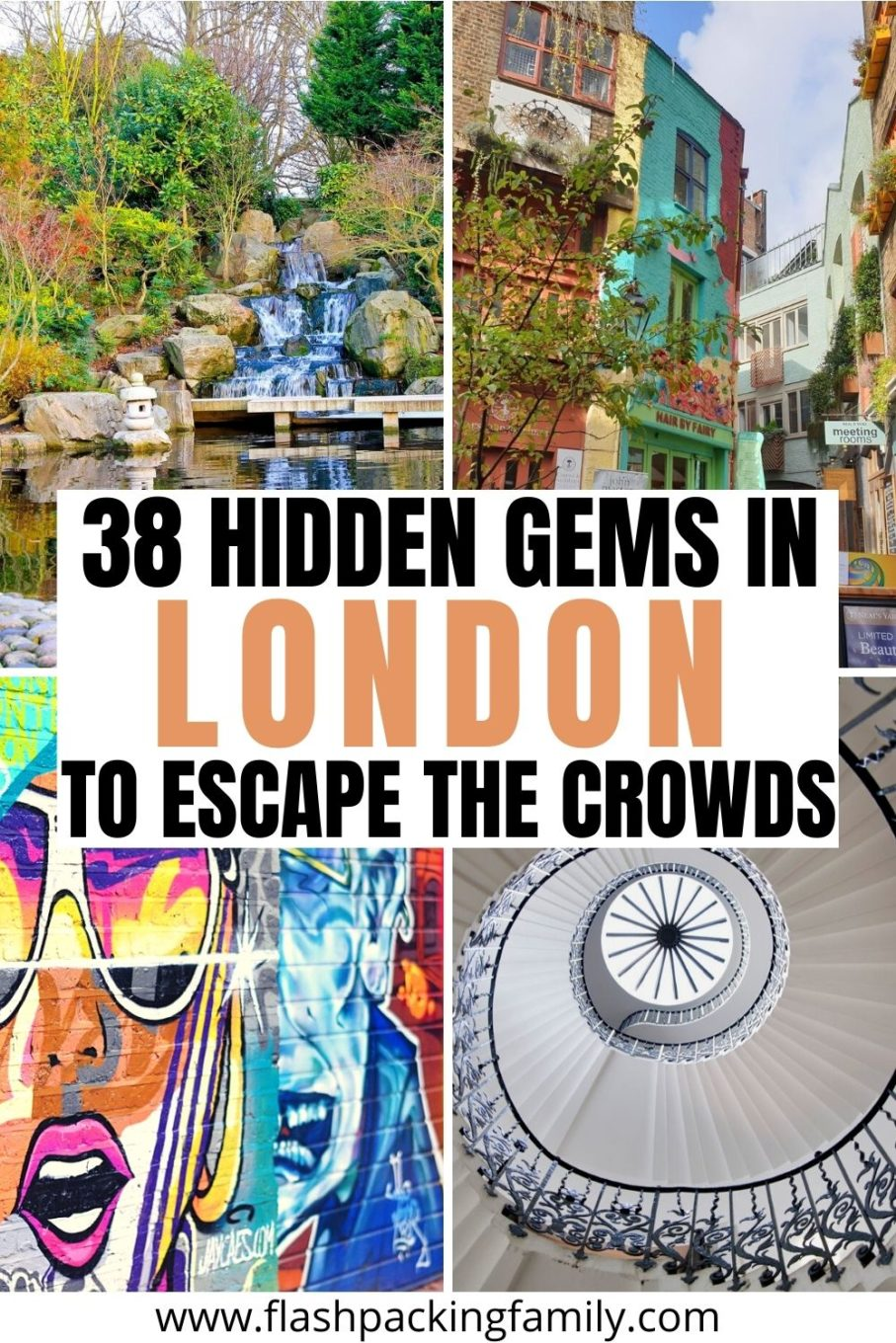 38 Hidden Gems in london to Escape The Crowds