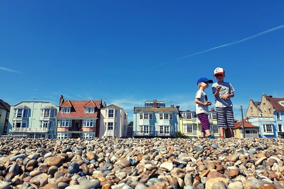Aldeburgh beachfront in Suffolk