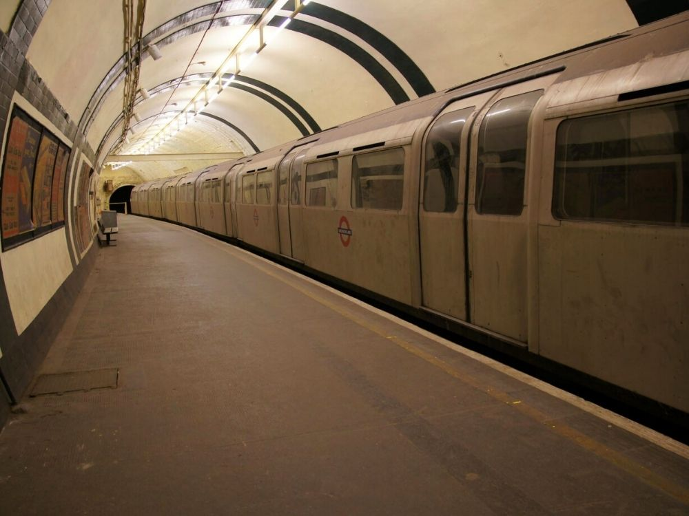 Aldwych Station - a disused tube station in London.