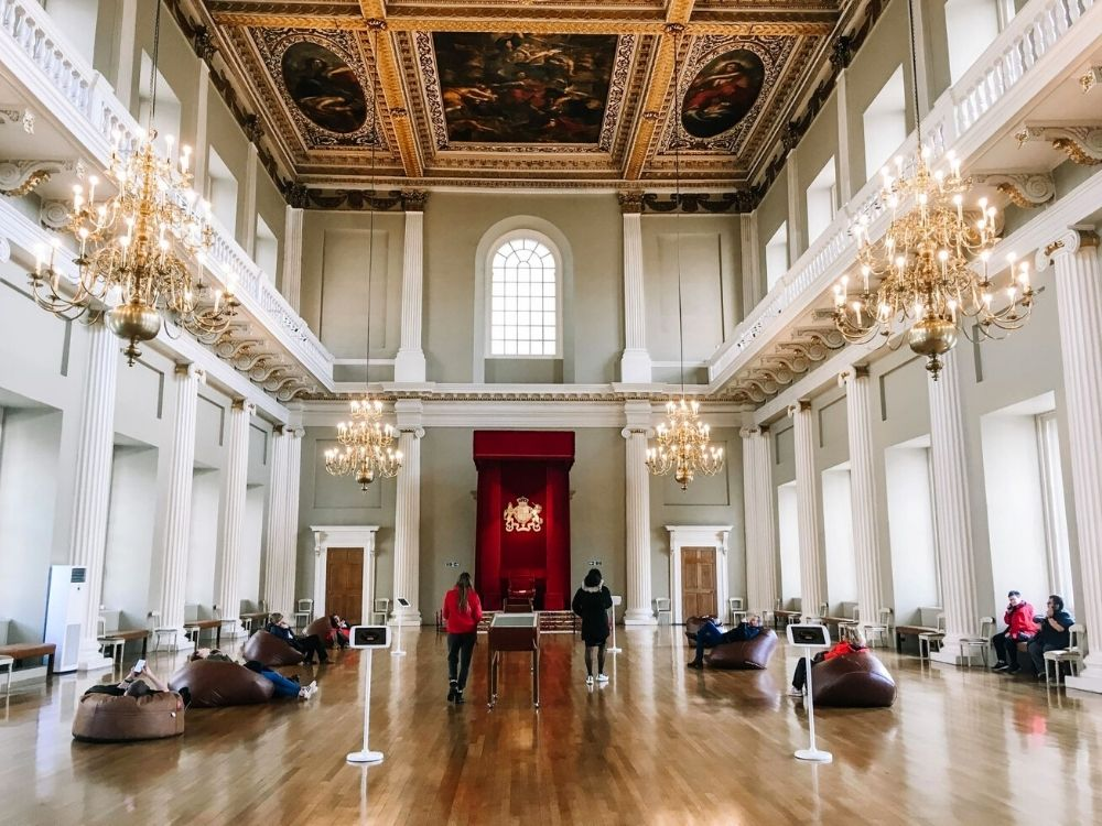 Banqueting House, one of the best hidden gems in London.
