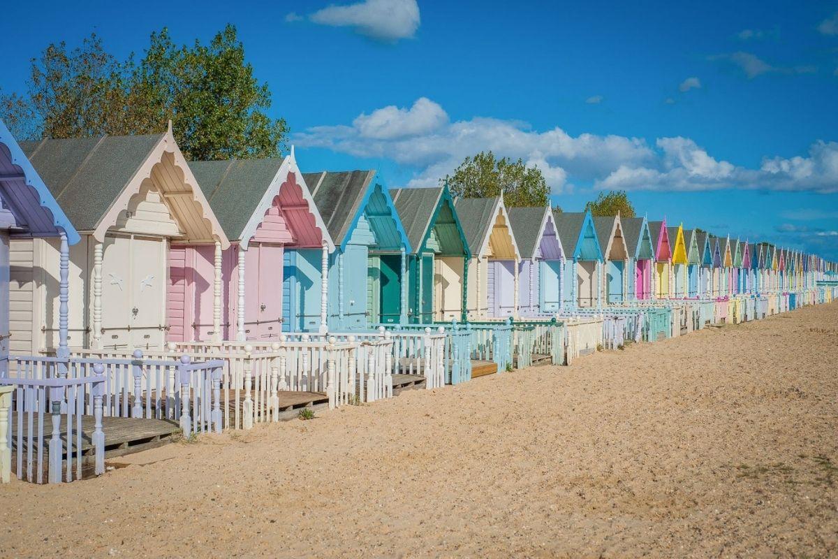 Beach huts on Mersea Island