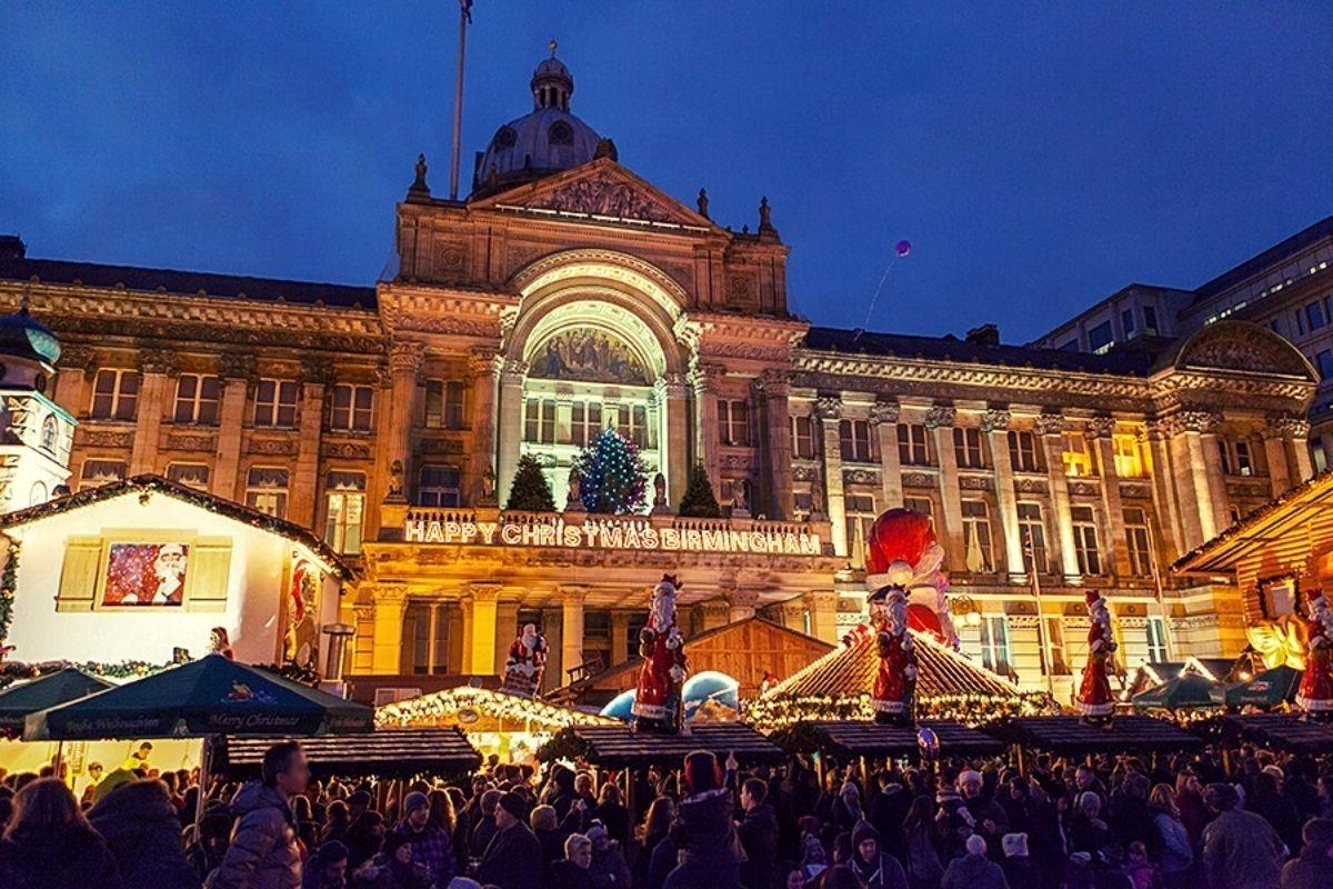 Birmingham at Christmas.