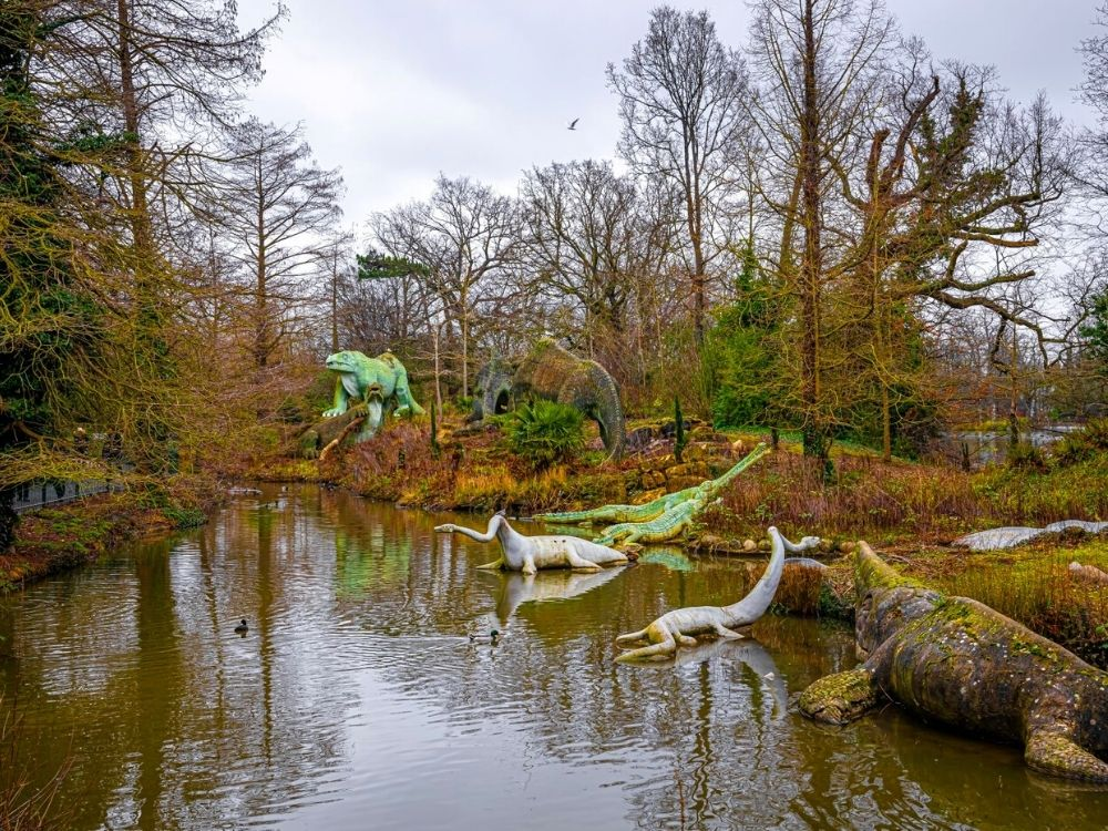 Dinosaurs in Crystal Palace Park.