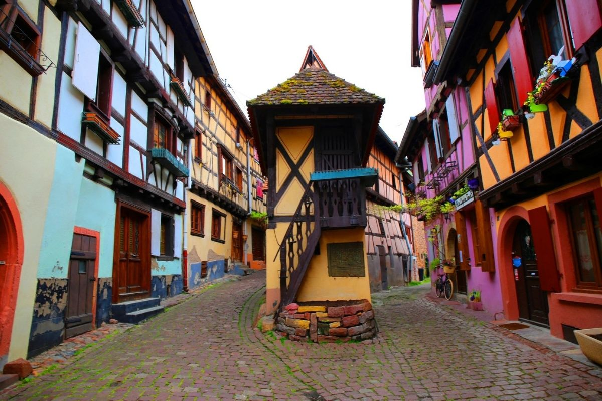 Fairy tale town of Eguisheim in Alsace.