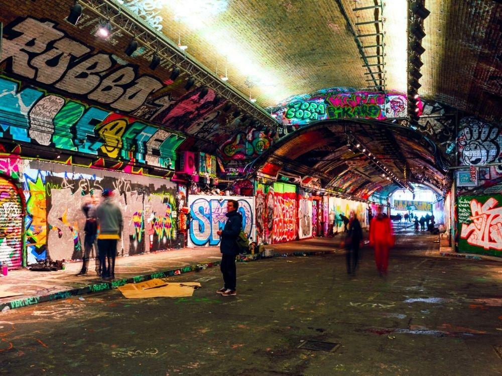 Graffiti Tunnel (Leake Street) near Waterloo Station.