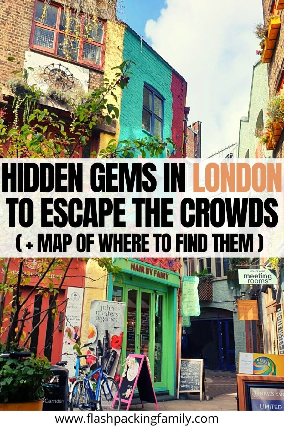 Hidden gems in London to Escape the Crowds (+Map)