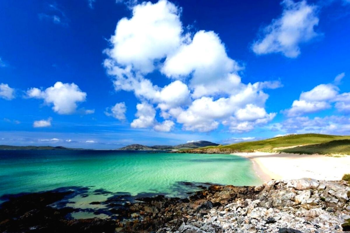 Luskentyre Beach on the Isle of Harris.