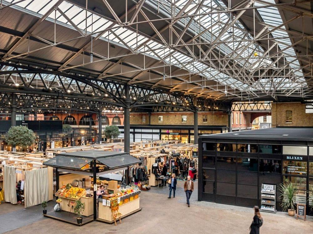 Old Spitalfields Market in East London.