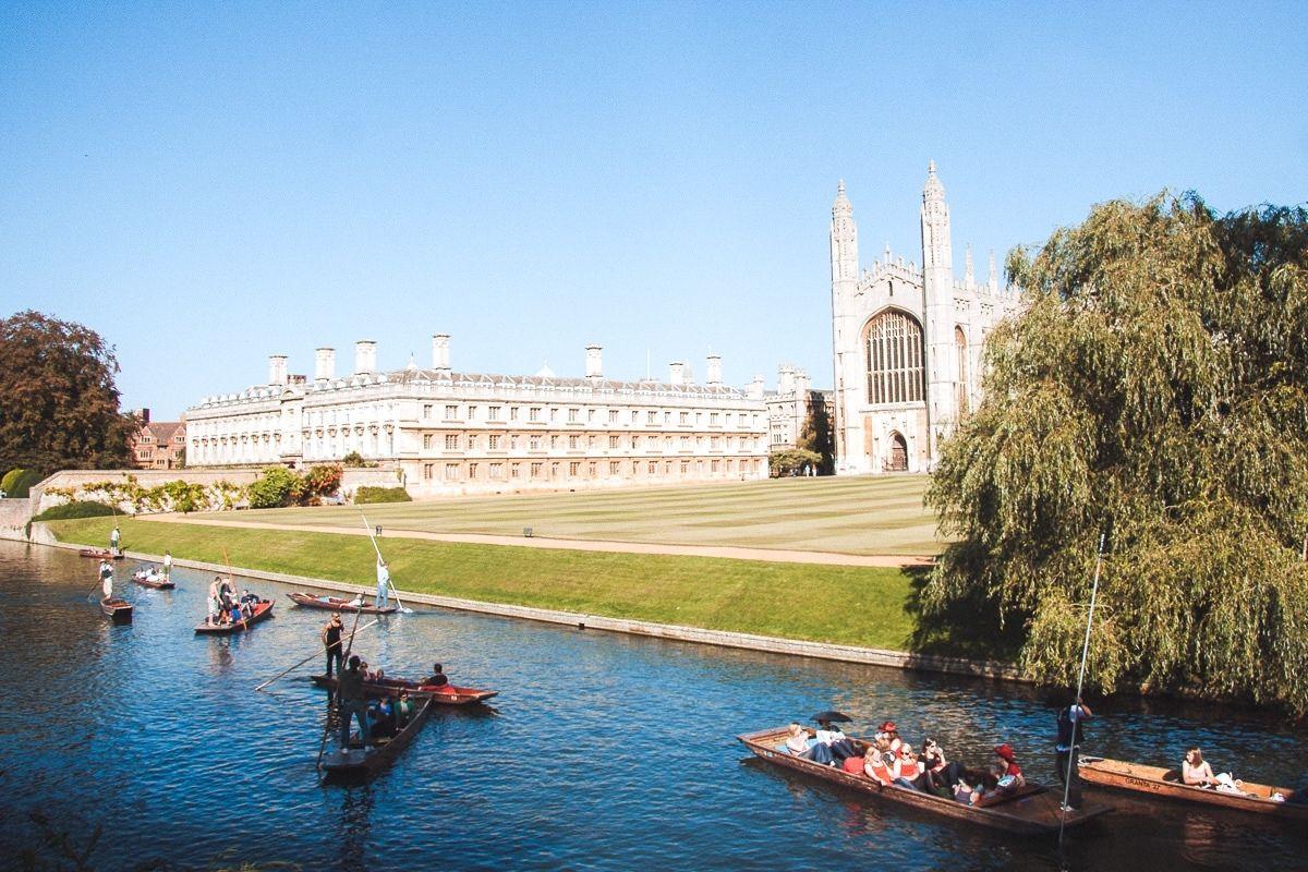 Punting in Cambridge.