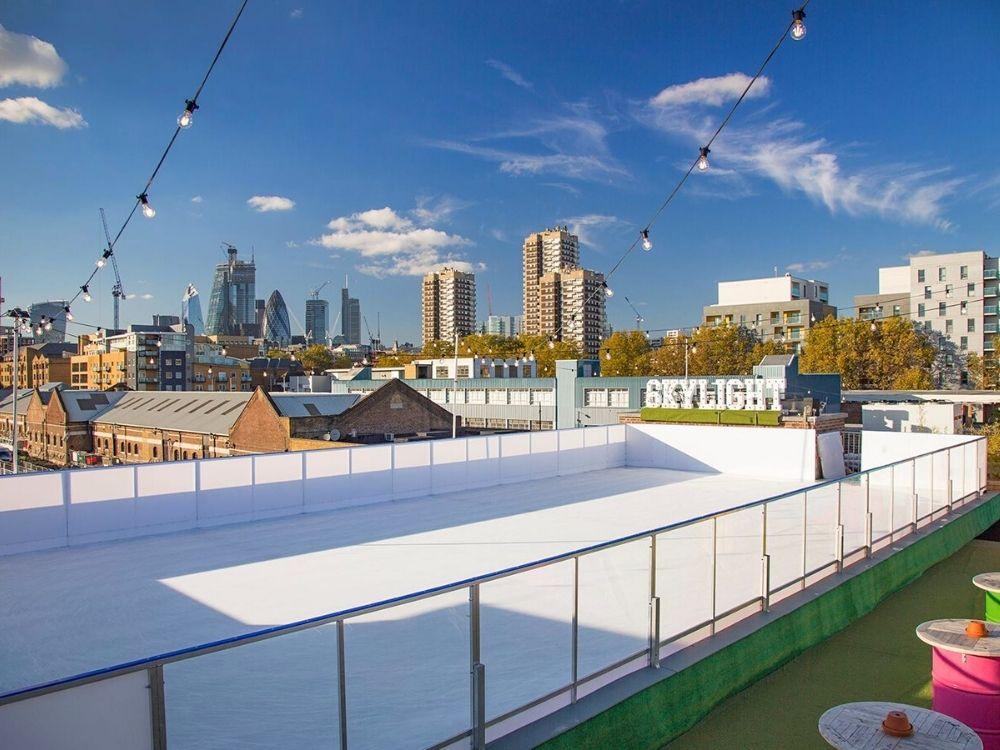 Skylight Bar's rooftop ice rink Photo Credit Skylight.