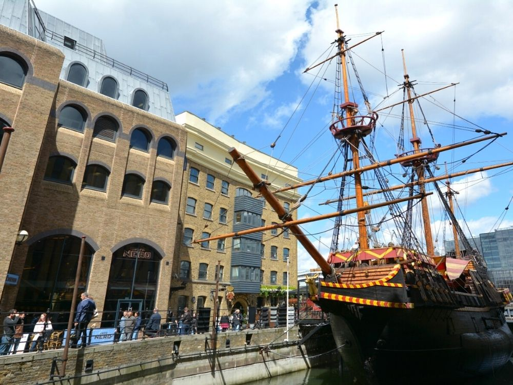 The Golden Hinde in London.