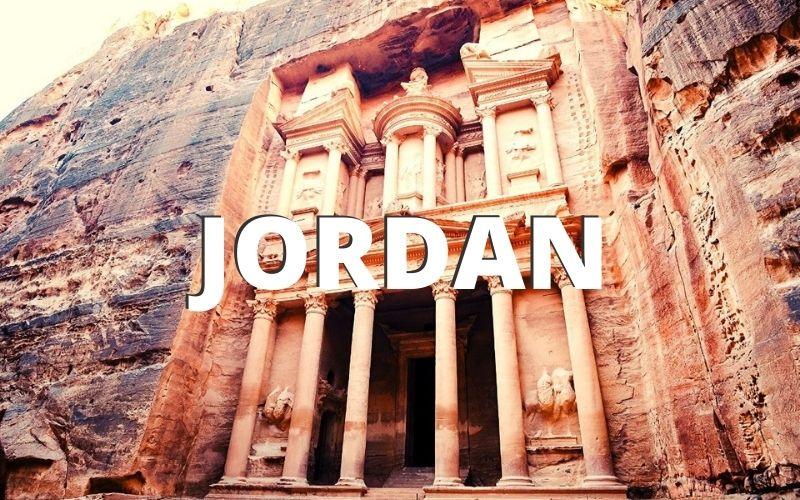 The Treasury in Petra in Jordan.
