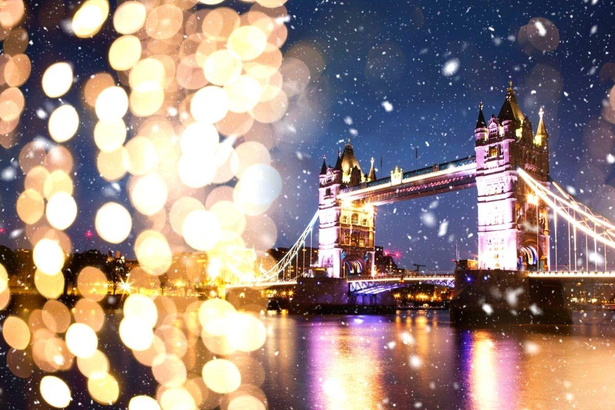 Tower Bridge at Christmas.
