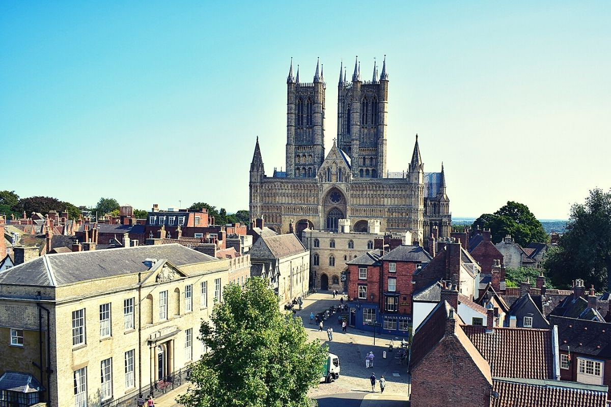 View of Lincoln Cathedral from Lincoln Castle.
