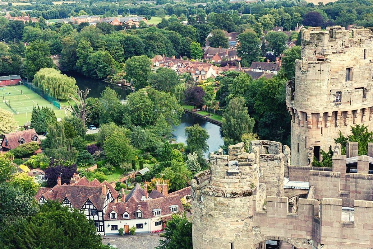 View of Warwick Castle.