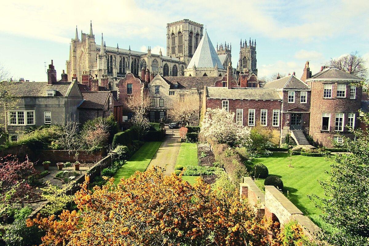 View of York Minster in York.