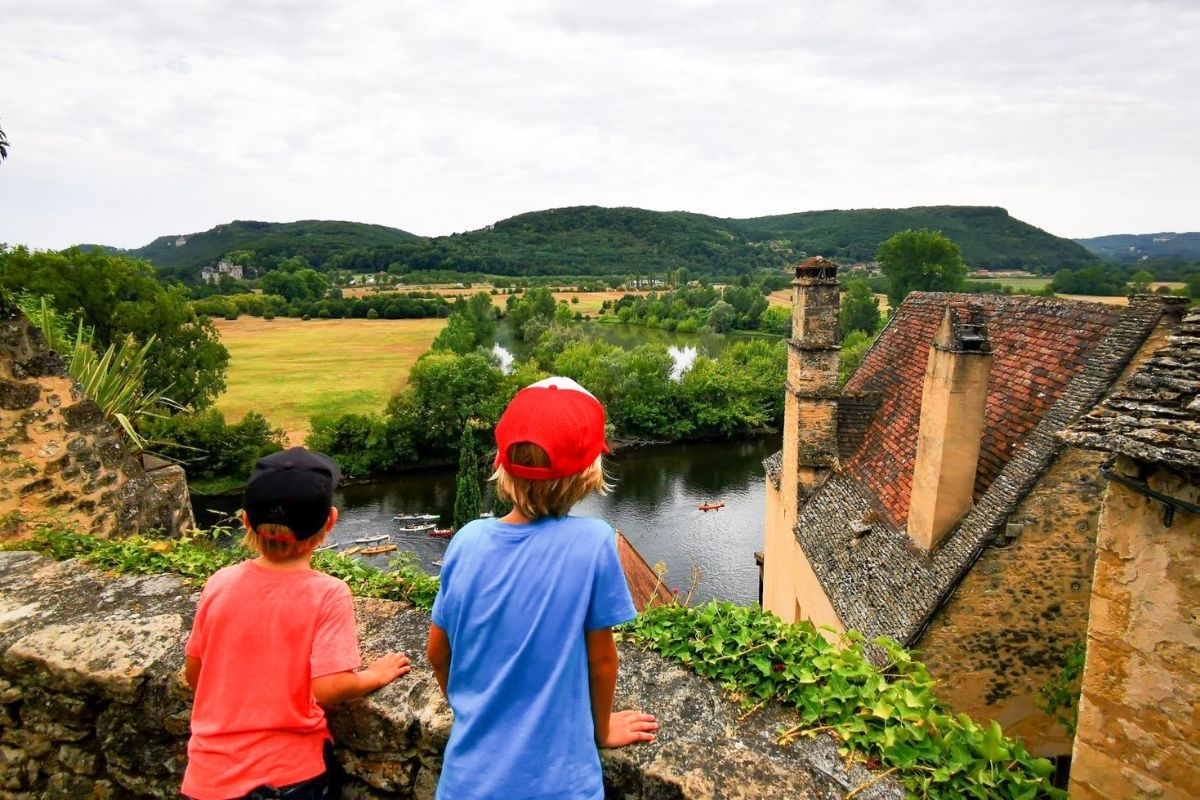 Views of the Dordogne River from Beynac Castle.