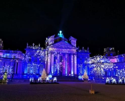 Blenheim Palace Christmas lights.