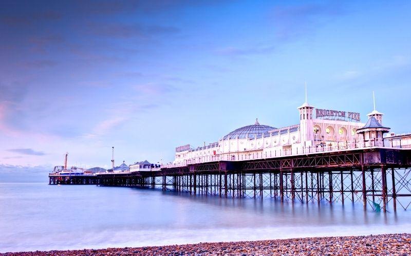 Brighton Pier in East Sussex.