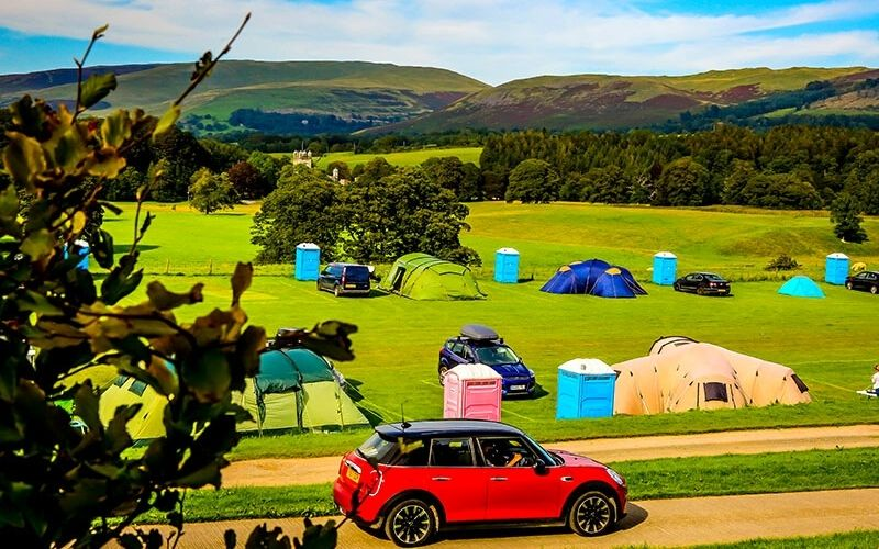 Camping with ensuite facilities at Kirkby Lonsdale RUFC.