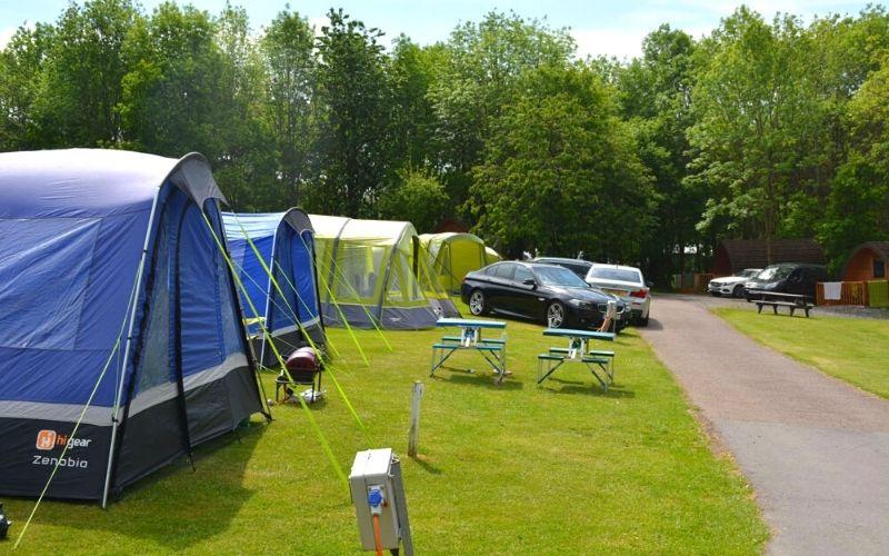 Campsite at Hillcroft Caravan Park in the Lake District