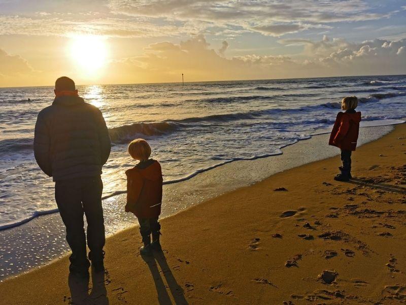 Catch a sunrise at the beach.