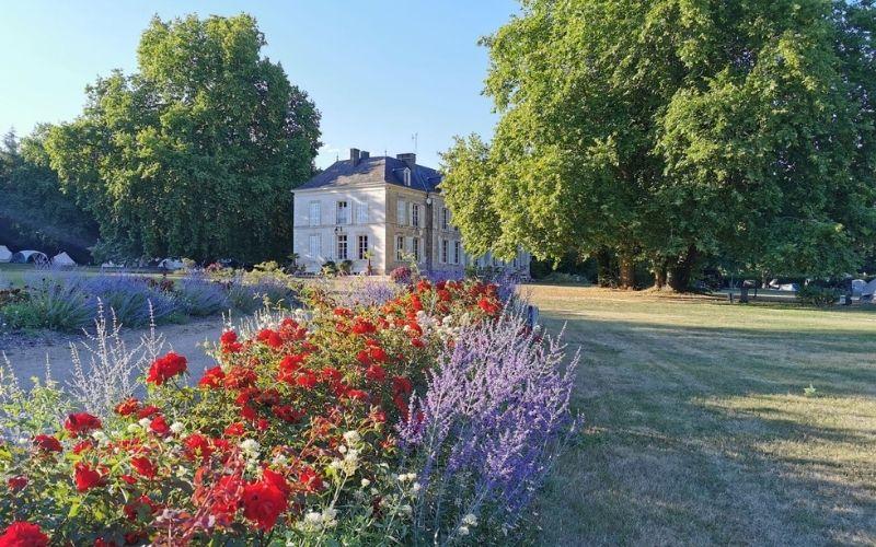 Chateau de Chanteloup, a Les Castels campsite in France.