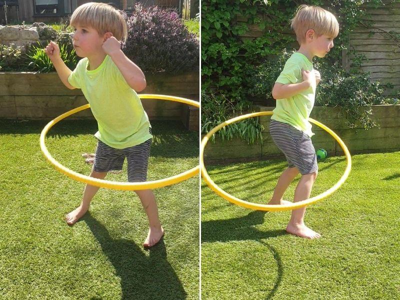 Hoola hooping.
