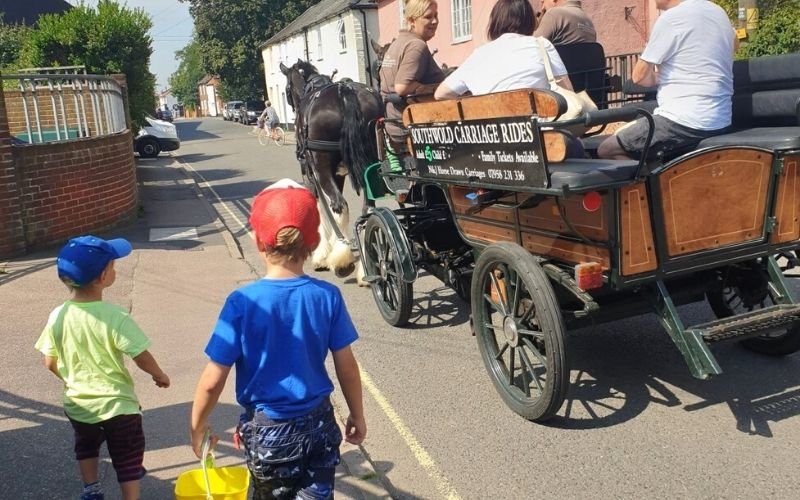 Horse drawn carriage ride around Southwold.