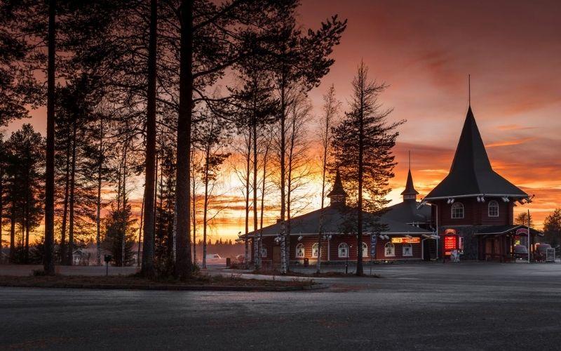 Santa Claus Village in Rovaniemi in Finland.