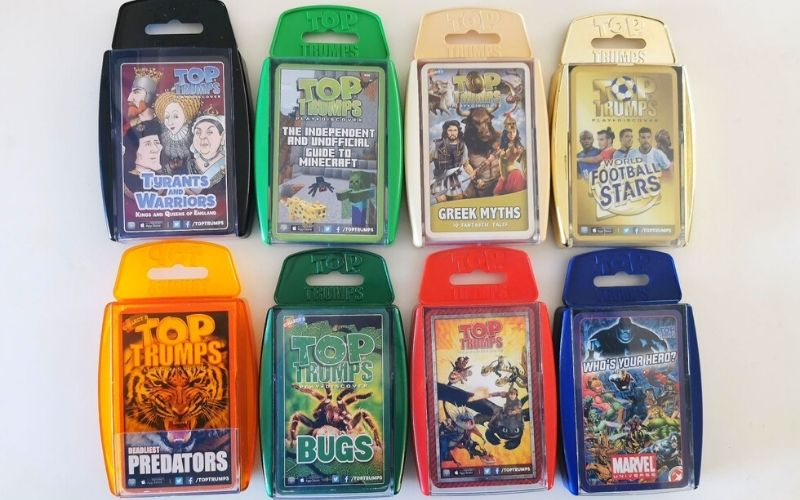 Selection of Top Trumps games for kids.