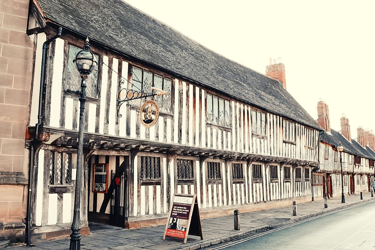 Shakespeare's Schoolroom and Guildhall in Stratford-upon-Avon.