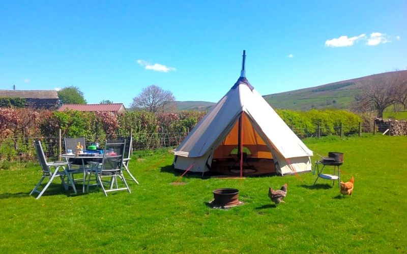 Stablefell Camping in North Yorkshire.