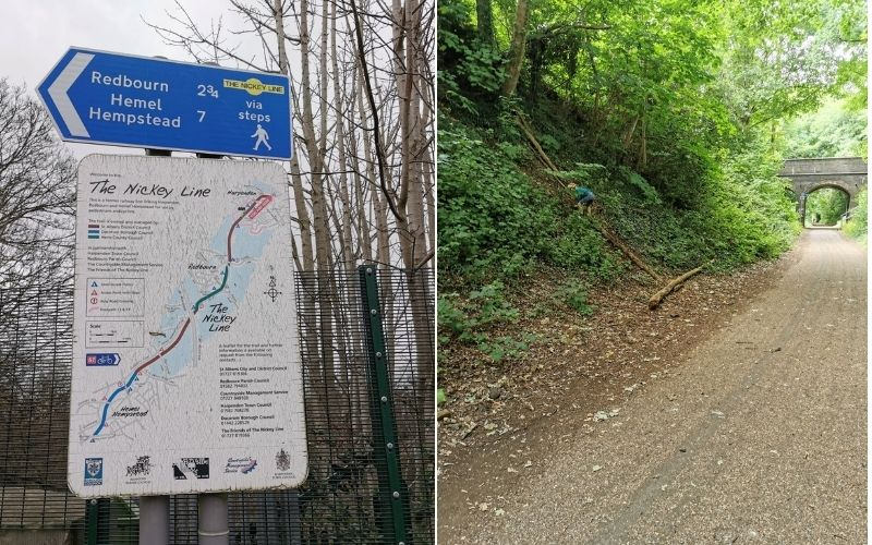 The Nickey Line in Hertfordshire.