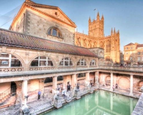 The Roman Baths in Bath.