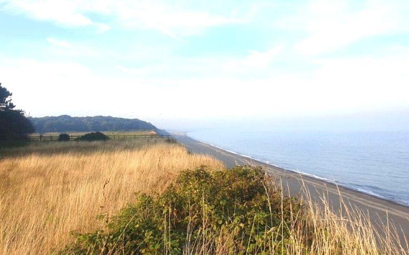 The Suffolk coastline at Dunwich.