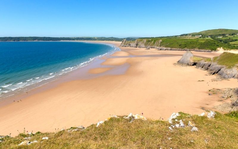 Three Cliffs Bay on the Gower Peninsula in Wales.