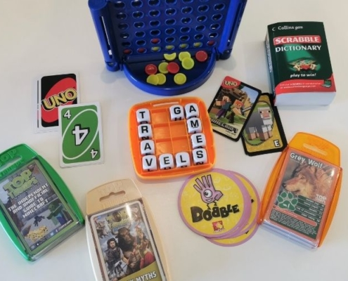 Travel games for kids.