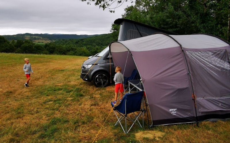 Vango Noosa Low Drive away awning for a VW Campervan.