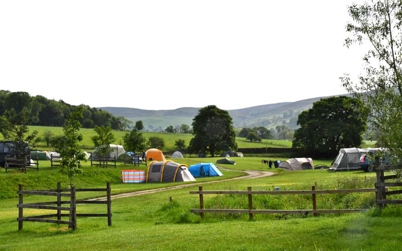 camping pitches at Catgill Farm