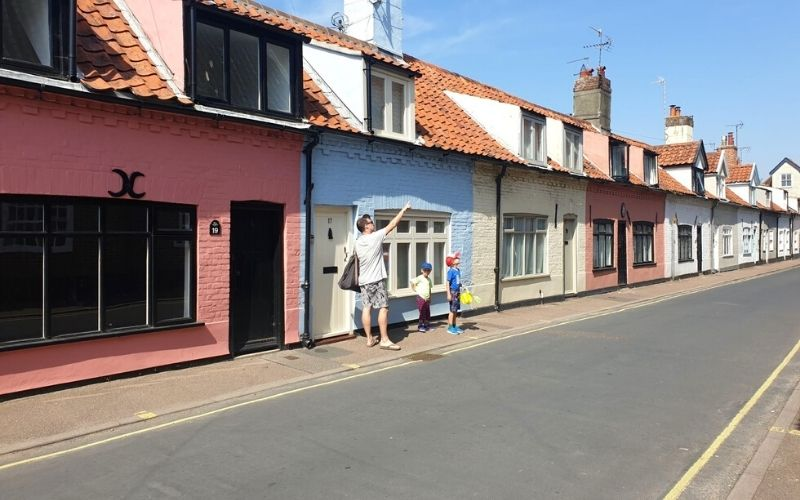 exploring the back streets of Southwold.