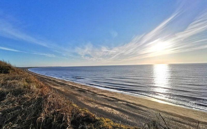 Dunwich Beach at sunrise.