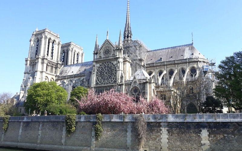 Notre-Dame de Paris in Spring.