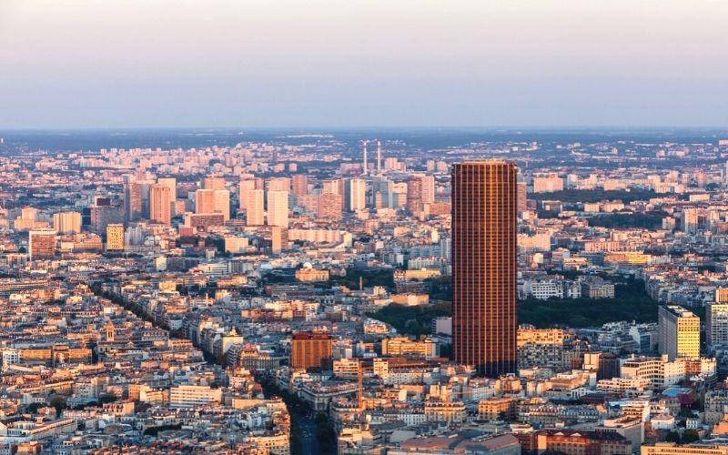The Montparnasse Tower in Paris.