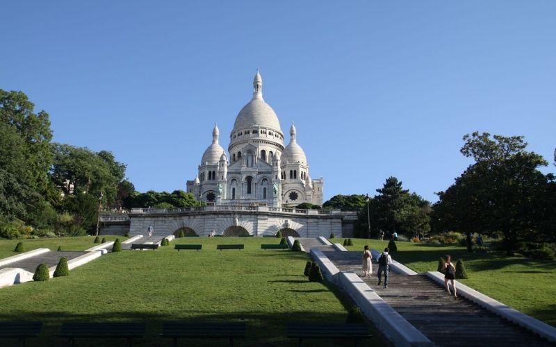 The Sacré-Coeur in Paris.