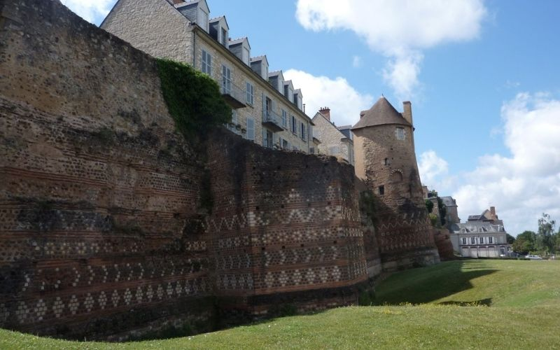The fortified walls of Le Mans dating back to the 3rd century.