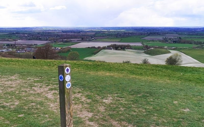 Views from Dunstable Downs over the surrounding counties.