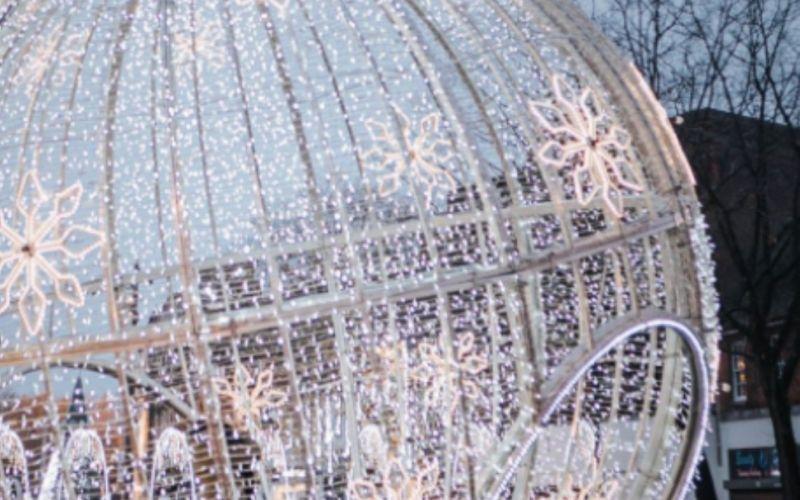 Christmas lights in Watford.