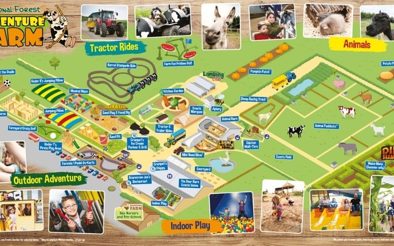 National Forest Adventure Farm Map
